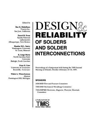 Design   Reliability of Solders and Solder Interconnections PDF