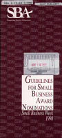 Guidelines for Small Business Award Nominations PDF