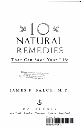 Ten Natural Remedies That Can Save Your Life PDF