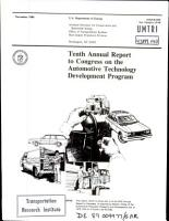 Annual Report to Congress on the Automotive Technology Development Program  Tenth PDF