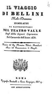 Il viaggio di Bellini melo-dramma in due atti