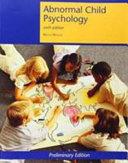 Custom Abnormal Child Psychology   Mash Wolfe Book