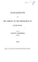 Catalogue. ... Supplement. (Second-fifteenth Supplement.).