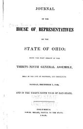 Journal of the House of Representatives of the State of Ohio: Volume 39