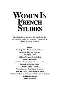 Women in French Studies PDF