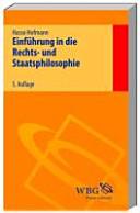 Einf  hrung in die Rechts  und Staatsphilosophie PDF