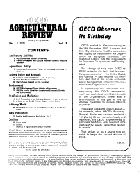 OECD Agricultural Review PDF