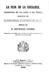 La flor de la serranía: zarzuela en un acto y en verso, Volúmenes 27-28