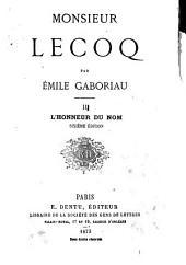 Monsieur Lecoq: Volume2