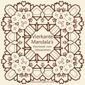Vierkante Mandala's Kleurboek voor Volwassenen 1