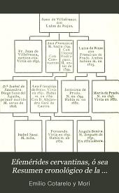 Efemérides cervantinas: ó sea Resumen cronológico de la vida de Miguel de Cervantes Saavedra