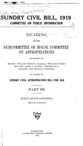 Sundry Civil Bill,1919, Hearings . . . 65th Congress, 2d Session: Volume 3