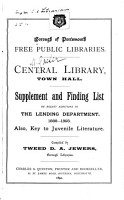 Supplement and Finding List of Recent Additions to the Lending Department  1888 1893 PDF
