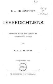 P. A. de Génestet's Leekedichtjens