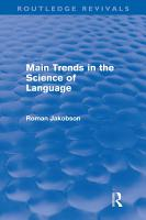 Main Trends in the Science of Language  Routledge Revivals  PDF