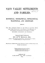 Saco Valley Settlements and Families