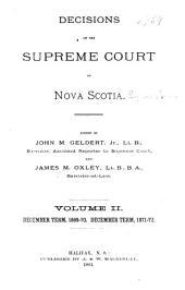 The Nova Scotia Reports: Volume 8