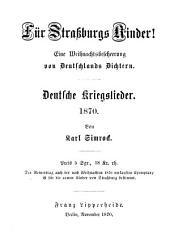 Deutsche Kriegslieder. 1870