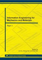 Information Engineering for Mechanics and Materials PDF