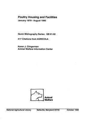 Poultry Housing and Facilities PDF