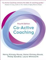 Co Active Coaching  Fourth Edition PDF