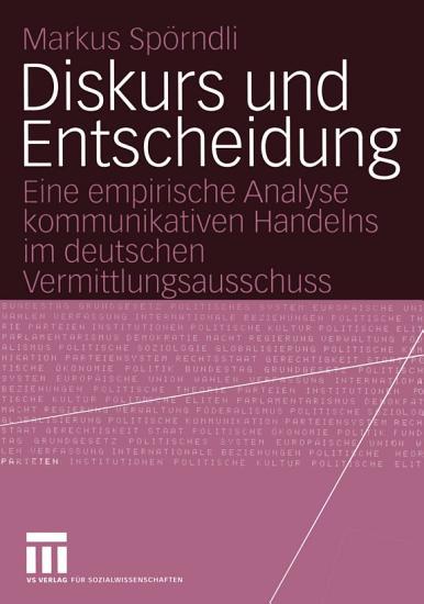 Diskurs und Entscheidung PDF
