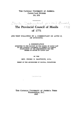 The Provincial Council of Manila of 1771 PDF