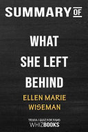 Summary of What She Left Behind: Trivia/Quiz for Fans