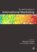 The SAGE Handbook of International Marketing PDF