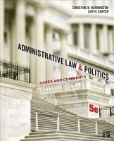 Administrative Law and Politics PDF