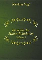 Europ?ische Staats-Relationen