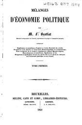 Mélanges d'économie politique: Volumes1à2