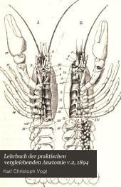 Lehrbuch der praktischen vergleichenden Anatomie: Band 2