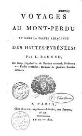 Voyages au Mont-Perdu et dans la partie adjacente des Hautes-Pyrénéés