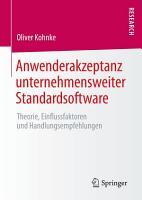 Anwenderakzeptanz unternehmensweiter Standardsoftware PDF