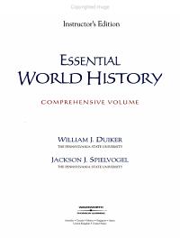 Essential World History Book