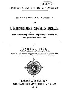 Shakespeare s Comedy of a Midsummer Night s Dream Book