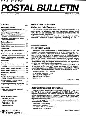 The Postal Bulletin PDF