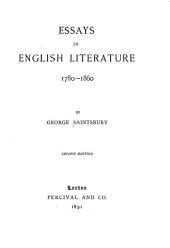 Essays in English Literature, 1780-1860: Volume 1