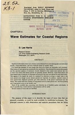 Wave Estimates for Coastal Regions PDF