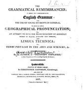 The Grammatical Remembrancer: a Short But Comprehensive Grammar, Etc