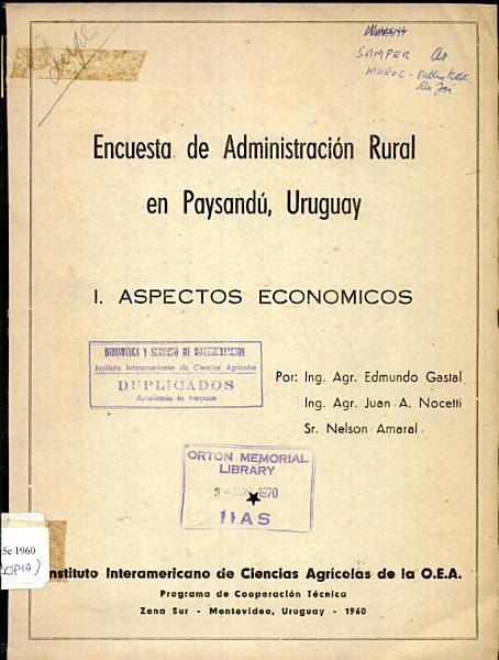 Encuesta De Administracion Rural En Paysandu Uruguay