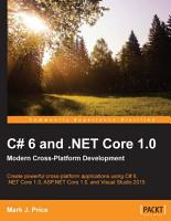 C  6 and  NET Core 1 0  Modern Cross Platform Development PDF