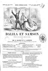 Dalila et Samson histoire en cinq feuillets, mêlée de couplets par E. Grangé et A. Lapointe
