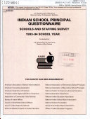 Indian School Principal Questionnaire Schools and Staffing Survey, 1993 School Year