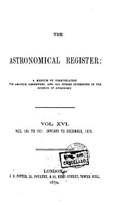 Astronomical Register PDF