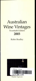 Australian Wine Vintages 2003 PDF