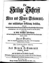 Die Heil. Schrift, nebst einer vollstaendigen Erklaerung derselben aus den Anmerkungen Englaend. Schriftsteller: Band 17