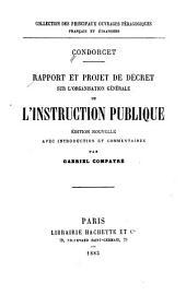 Rapport et projet de décret sur l'organisation générale de l'instruction publique