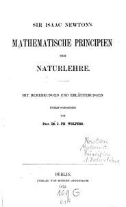 Sir Isaac Newton s Mathematische Principien der Naturlehre PDF